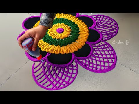 Easy and attractive rangoli design