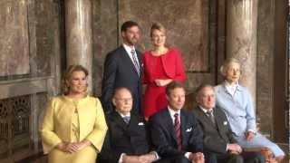 Download Erbgroßherzog Guillaume und Stéphanie de Lannoy zeigen sich auf Schloss Berg Video