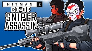 Download Hitman - SNIPER ASSASSIN CO-OP WITH CARTOONZ! (Taking them all out!) Video