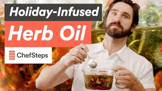 Download Thanksgiving Flavor in a Bottle: How to Make Herb-Infused Oil Video