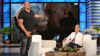 Download Vin Diesel's Side of the Charlize Theron Kiss Story Video