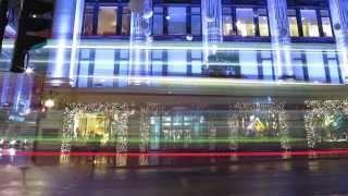 Download Christmas Lights + Window displays in London Selfridges Video