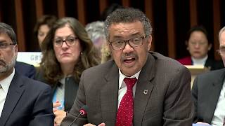 Download WHO: Dr Tedros addresses the 142nd WHO Executive Board, 22 January 2018 Video