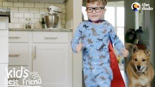 Download Little Boy's Best Friend In The World Is His Rescue Dog | The Dodo Kid's Best Friend Video