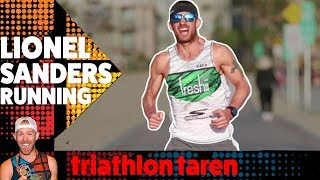 Download Pro Triathlete Ironman LIONEL SANDERS Running Form Analyzed in SLOW MOTION Video