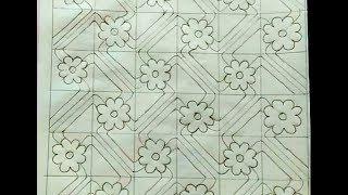 Download Latest Nakshi Kantha Design drawing tutorial 132,How to drawing/make nakshi kantha,নকশীকাঁথা নকশা, Video