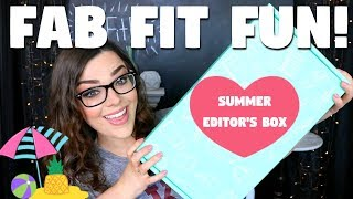 Download WOW! OVER A $300 VALUE! | FabFitFun Unboxing & Review! | Summer Editor's Box! Video