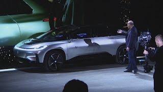 Download Awkward moment Faraday Future 'self-parking' car fails live demo Video