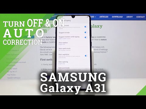 How to Open Auto Correction Settings in Samsung Galaxy A31 – Manage Predictive Text Feature