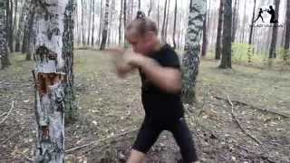 Download 8 year old girl punching a tree with sharp technique and amazing speed! Video