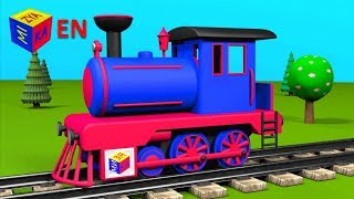 Download Trains for children: steam locomotive. Construction game educational cartoon for toddlers Video