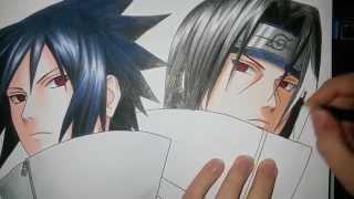 Download Speed Drawing - Uchiha Sasuke and Uchiha Itachi (Naruto) Video