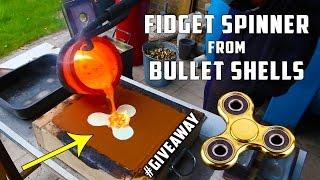 Download Casting Brass Fidget Spinner from Bullet Shells Video