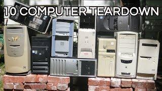 Download 10 Computer Teardown: Dell HP Compaq IBM, vintage desktop hardware Video