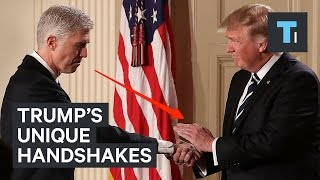 Download A body language expert analyzes Trump's unique handshakes Video