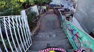 Download Insane Urban DH Mountain Bike POV - Red Bull Valparaiso Cerro Abajo 2015 Video