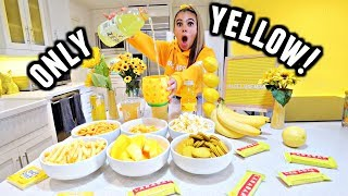 Download I only ate YELLOW food for 24 HOURS Challenge! Video