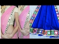 Download Saree making at home with beautiful border easy step by step tutorial Video