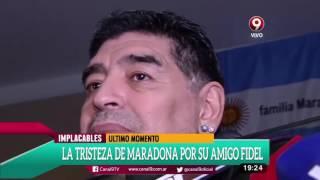 Download La tristeza de Maradona por la muerte de su amigo Fidel Castro Video