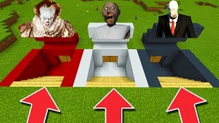 Download Minecraft PE : DO NOT CHOOSE THE WRONG SECRET BASE! (Pennywise, Slenderman & Granny) Video
