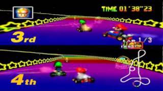 Download Mario Kart 64 - Special Cup 2 Players: Mario & Luigi Video