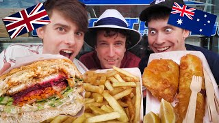 Download Brits try Australian Fish and Chips (how is it BETTER?!) Video