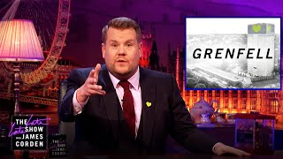 Download James Corden Talks About Grenfell Tower Video
