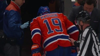 Download Maroon heads to dressing room after vicious cross-check by Beauchemin Video