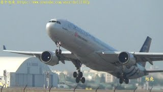 Download 華航A330客機起飛 降落觸地重飛...飛行訓練 測試 Video
