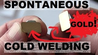 Download Cold Welding of Gold and Stainless Steel in Earth Atmosphere. Video
