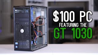 Download The $30 PC + $70 GT 1030 vs Player Unknown's Battlegrounds, Overwatch, & More! Video