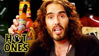 Download Russell Brand Achieves Enlightenment While Eating Spicy Wings | Hot Ones Video