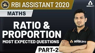 Download RBI Assistant 2020 | Ratio & Proportion (Part-2) - Maths for RBI Assistant Preparation Video