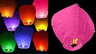 Download How To Make A Sky Lantern At Home - DIY Crafts Video
