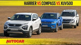 Download Tata Harrier vs Jeep Compass vs Mahindra XUV500 | Comparison Test Review | Autocar India Video