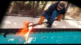 Download Pouring lava in my pool! Video
