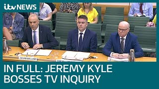 Download In full: ITV and Jeremy Kyle bosses give evidence at reality TV inquiry | ITV News Video