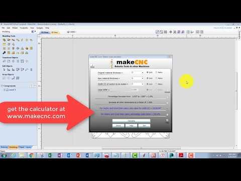 makeCNC vectric scale calculator tutorial