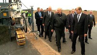 Download Лукашенко посетил строительную площадку второй кольцевой автомобильной дороги Video