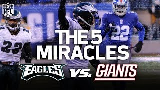 Download The Eagles 5 Miracle Wins vs. the Giants | NFL Highlights Video