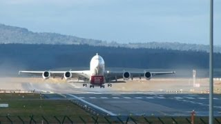Download Emirates A380 beautiful landing & take-off @ ZRH - 05/01/2014 Video