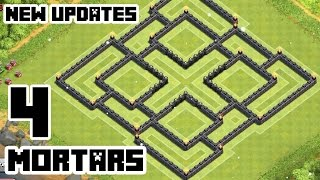 Download Clash of Clans Town Hall 9 Defense (CoC TH9) BEST Farming Base Layout With 4 Mortars Video
