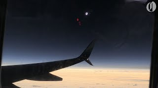 Download Alaska Airlines eclipse flight first to witness totality 2017 Video