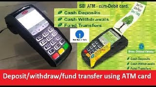 Download How to deposit/withdraw/fund transfer using ATM card at green channel counter...... Video
