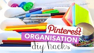 Download Pinterest Hacks Tested - 5 DIY Stationery Organization Hacks | Rachelleea Video