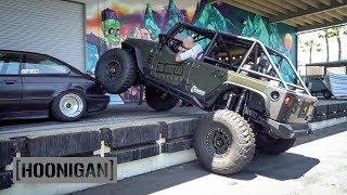 Download [HOONIGAN] DT 061: Jeep on Steroids Crushes $350 BMW E36 Video