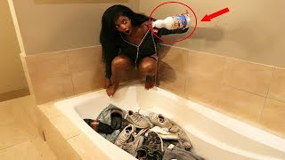 Download BLEACHING ALL OF HIS CLOTHES & SHOES PRANK (gone wrong!!!) Video