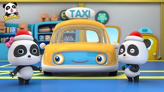 Download Drive Taxi to Pick up Santa Claus | Baby Panda Taxi Driver | Christmas Song | BabyBus Video