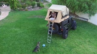Download Jeep Wrangler with ARB Roof Top Tent and AEV Rack Mount Combo Plus How To Open Video