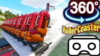 Download 360 Video 4K || Roller Coaster Ride Simulation Video